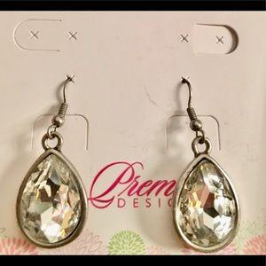 Liz- Premier Designs teardrop crystal earrings